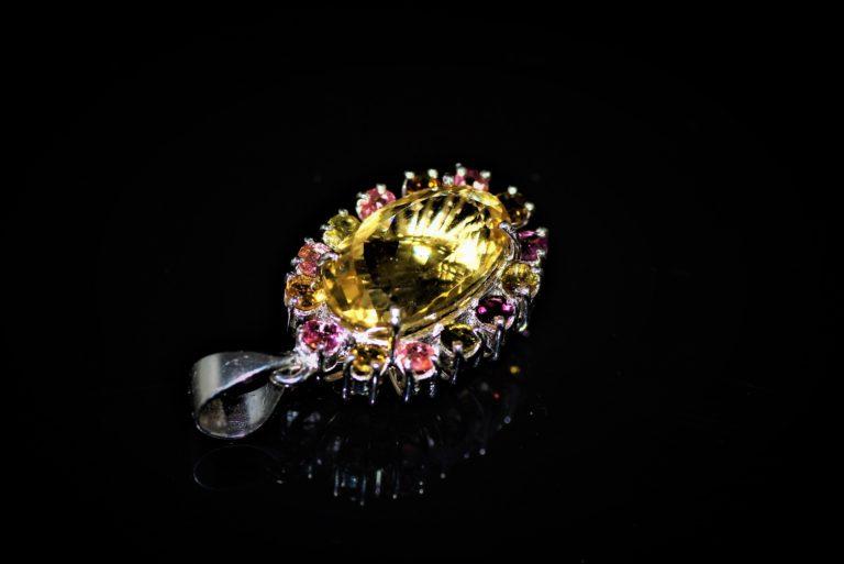 Citrine Pendant zadara jewels