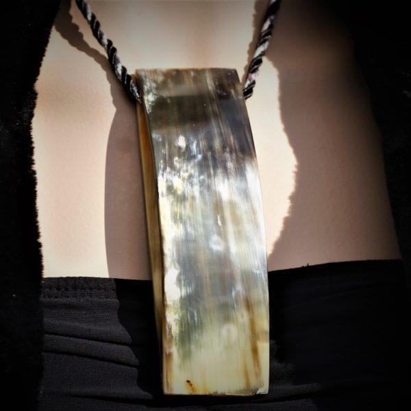 Statementl horn pendant zadara jewels