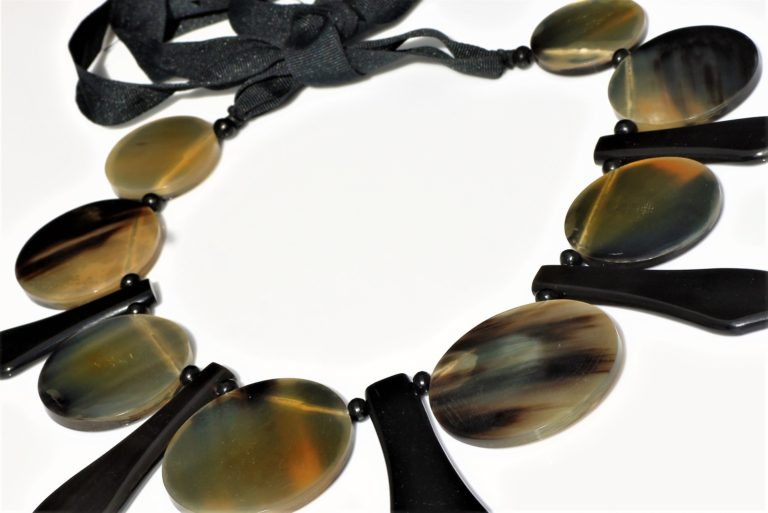 Statement horn Necklace zadara jewels