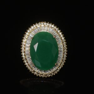 Green-onyx silver ring zadara jewels