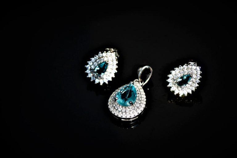 Duo Blue Teardrop Zirconia Set zadara jewels