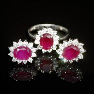 Duo rubellite ring set zadara jewelsDuo rubellite ring set zadara jewels