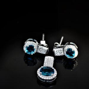 Duo blue-eyed zirconia set zadara jewels