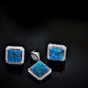 Duo blue-opal set zadara jewels