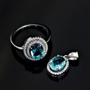 Duo blue topaz zirconia set zadara jewels