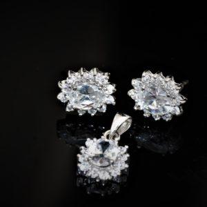 Duo diamond-cut zirconia set zadara jewels