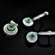 Duo drop set in mint-green apophyllite zadara jewels
