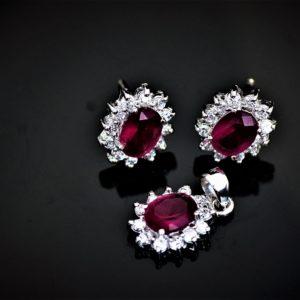 Duo rubellite pendant set zadara jewels