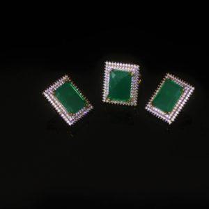 Emerald-cut zirconia set zadara jewels