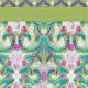 Green Art nouveaux print shawl