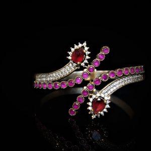 Jaipur cuff in red zadara jewels