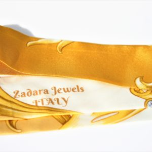 Luxurious gold silk twilly set
