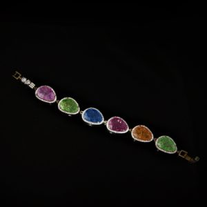 Rutilated crystal bracelet zadara jewels