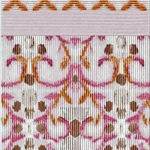 Peach Art nouveaux print shawl
