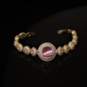 Pink cat-eye bracelet zadara jewels