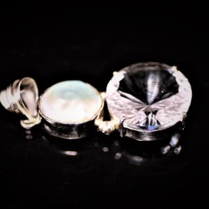 Round white topaz pendant zadara jewels