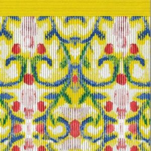 Yellow Art nouveaux print shawl