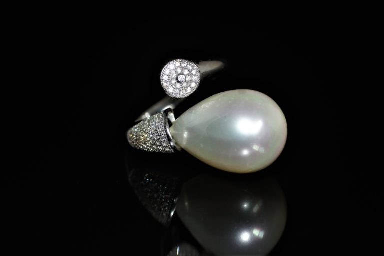 Anita white pearl ring zadara jewels