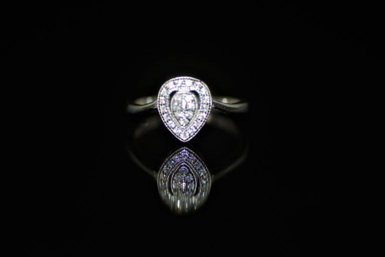 Diamante teardrop ring zadara jewels