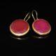 Red agate brass earrings zadara jewels