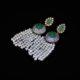 Vintage emerald tassel earrings zadara jewels