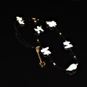 Mother of pearl beaded necklace zadara jewels