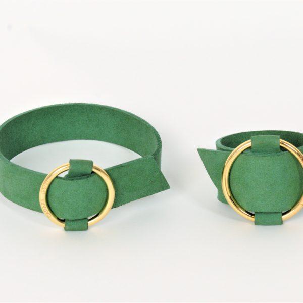 Sara choker set in green zadara jewels