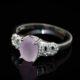 Oval rose-quartz ring zadara jewels