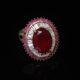 Red-onyx oval silver ring zadara jewels